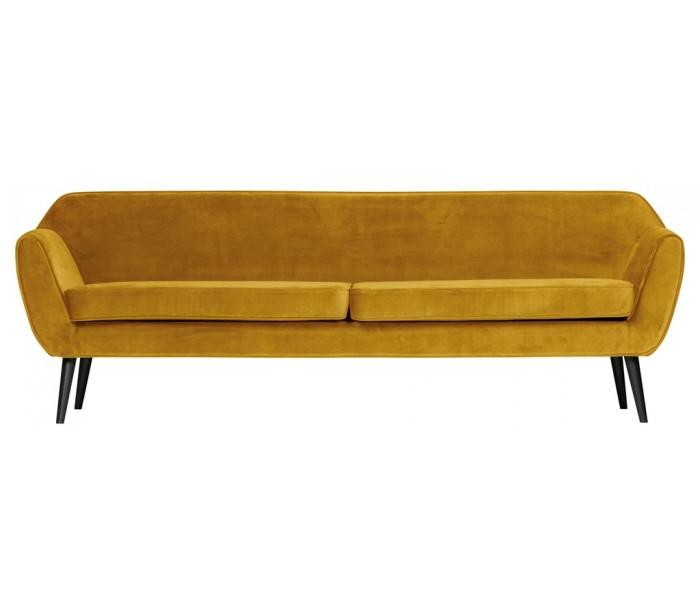 selected by lepong 3-personers sofa b230 cm - okker velour på lepong.dk