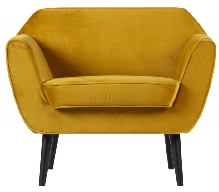Lænestol i velour B92 cm – Okker fra Rendl Light Studio