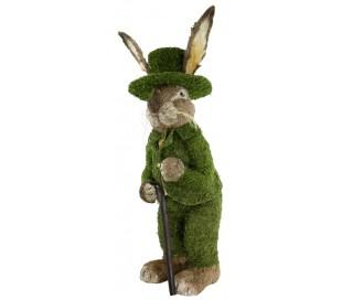 Dekorativ kanin i strå og kunstgræs H130 cm