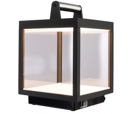 Lacertae USB Bordlampe H27 cm - Mørkegrå