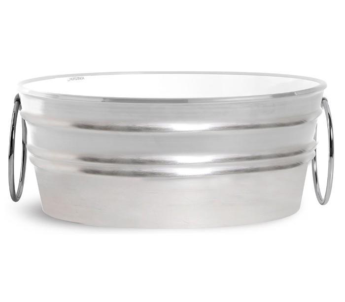 horganica Tinozza håndvask i keramik 58,5 x 40 cm - sølv fra lepong.dk