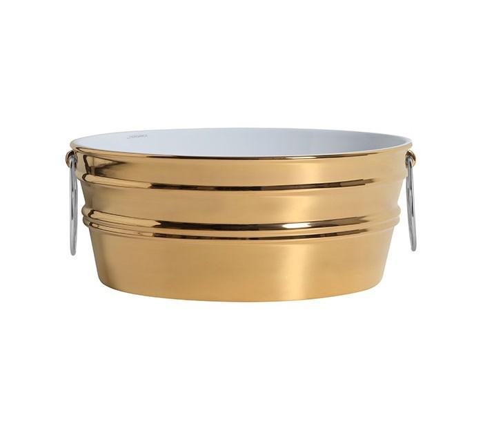 Tinozza håndvask i keramik 58,5 x 40 cm - Guld