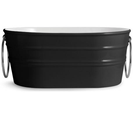 Tinozza håndvask i keramik 58,5 x 40 cm - Sort