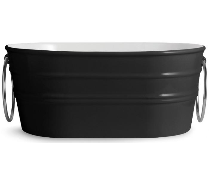 horganica Tinozza håndvask i keramik 58,5 x 40 cm - sort fra lepong.dk