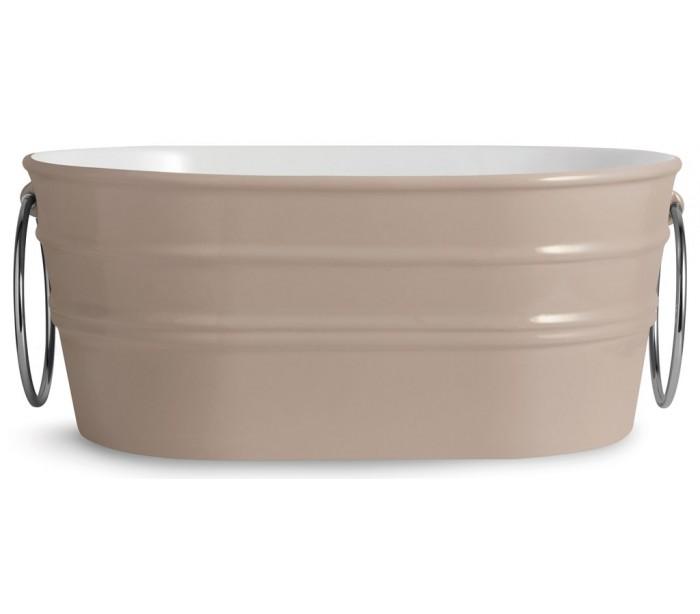 horganica Tinozza håndvask i keramik 58,5 x 40 cm - mat ler grå på lepong.dk
