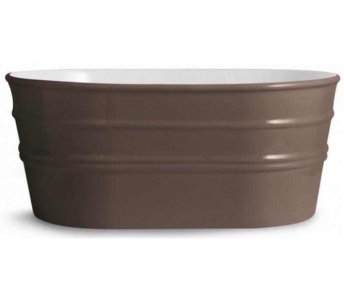horganica Tinozza håndvask i keramik 58,5 x 40 cm - mat basalt på lepong.dk