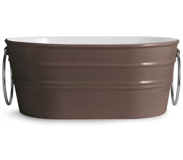 Tinozza håndvask i keramik 58,5 x 40 cm - mat basalt fra horganica på lepong.dk