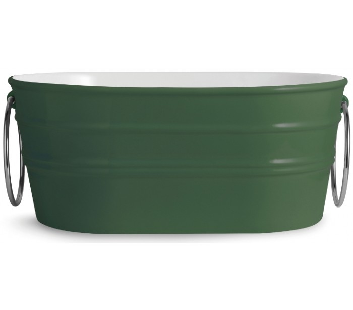 Tinozza håndvask i keramik 58,5 x 40 cm - engelsk grøn fra horganica fra lepong.dk