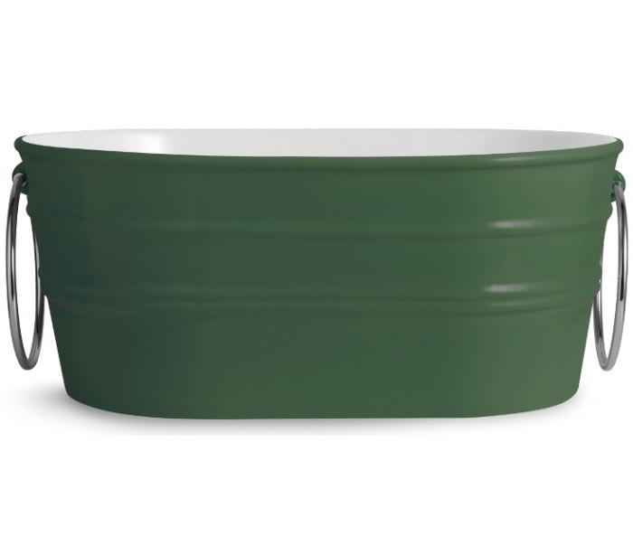 horganica – Tinozza håndvask i keramik 58,5 x 40 cm - engelsk grøn fra lepong.dk