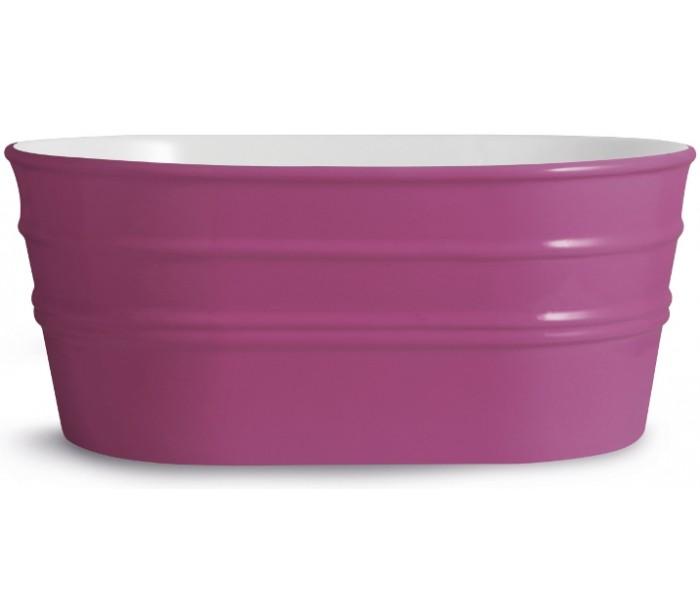 Tinozza håndvask i keramik 58,5 x 40 cm - lilla fra horganica på lepong.dk