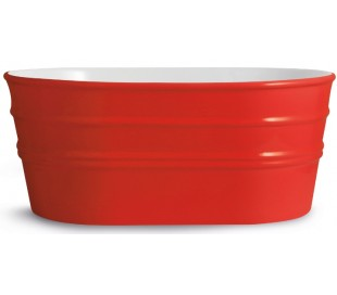Tinozza håndvask i keramik 58,5 x 40 cm - Passionsrød