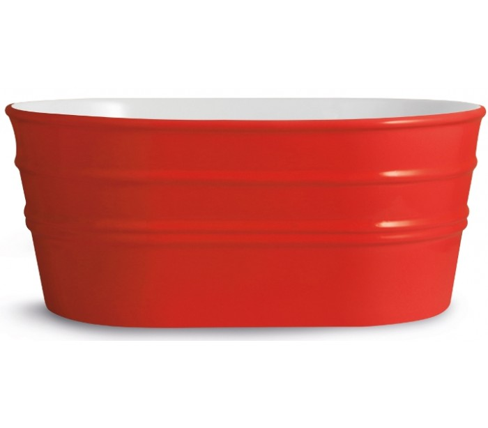 horganica – Tinozza håndvask i keramik 58,5 x 40 cm - passionsrød på lepong.dk