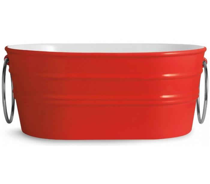 horganica Tinozza håndvask i keramik 58,5 x 40 cm - passionsrød fra lepong.dk
