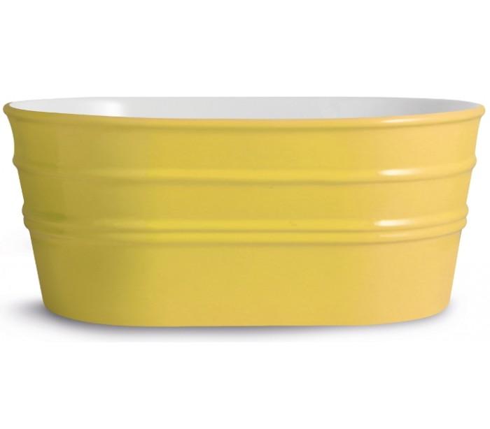 horganica – Tinozza håndvask i keramik 58,5 x 40 cm - solgul på lepong.dk