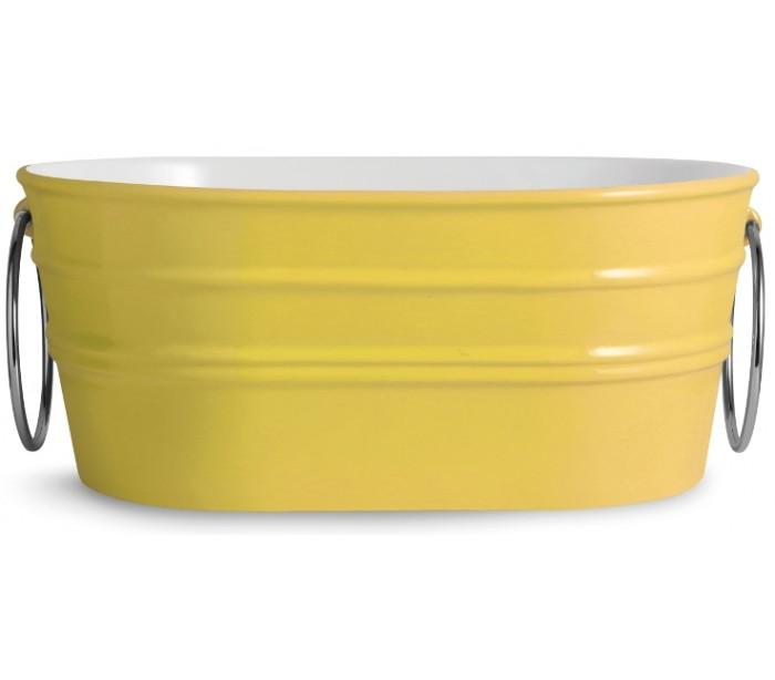 horganica Tinozza håndvask i keramik 58,5 x 40 cm - solgul på lepong.dk