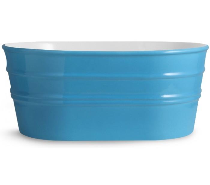 Tinozza håndvask i keramik 58,5 x 40 cm - cyan fra horganica på lepong.dk