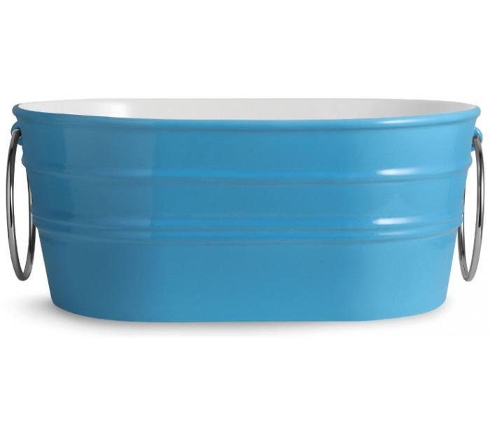 horganica Tinozza håndvask i keramik 58,5 x 40 cm - cyan på lepong.dk