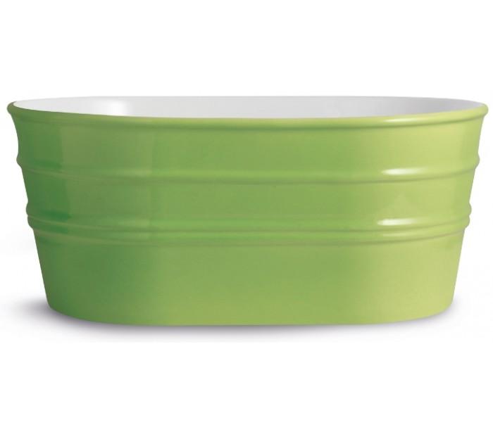 Tinozza håndvask i keramik 58,5 x 40 cm - limegrøn fra horganica på lepong.dk