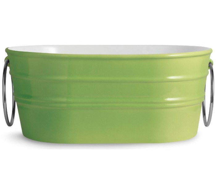 horganica – Tinozza håndvask i keramik 58,5 x 40 cm - limegrøn fra lepong.dk