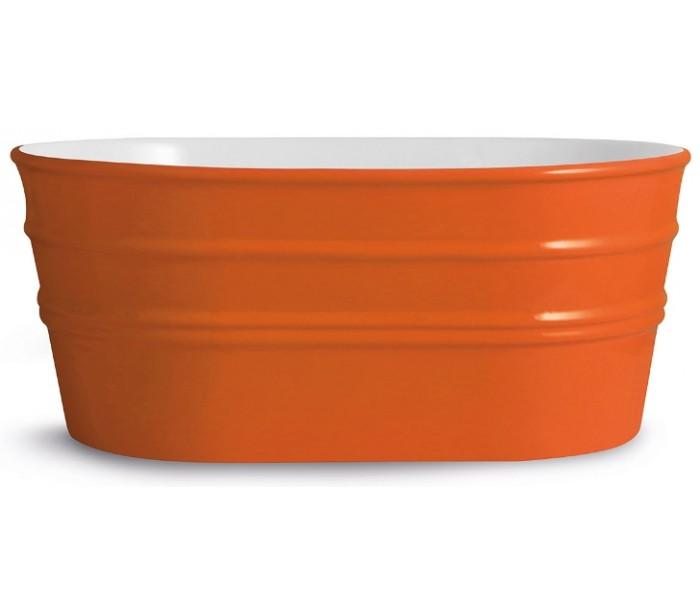 Tinozza håndvask i keramik 58,5 x 40 cm - orange fra horganica på lepong.dk