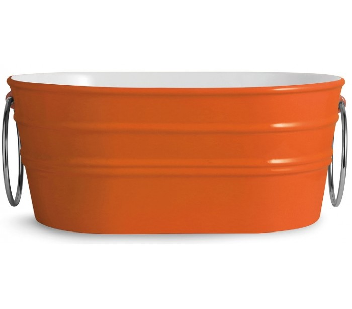 horganica Tinozza håndvask i keramik 58,5 x 40 cm - orange fra lepong.dk