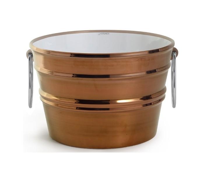 Image of   Bacile håndvask i keramik Ø46,5 cm - Kobber