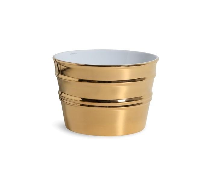 Image of   Bacile håndvask i keramik Ø46,5 cm - Guld
