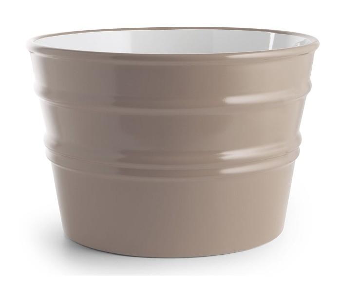 Bacile håndvask i keramik Ø46,5 cm – Mat ler grå