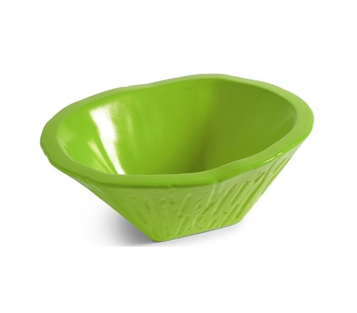 Terra håndvask i keramik 54 x 46 cm - limegrøn fra horganica fra lepong.dk