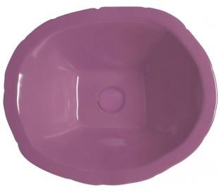 Terra håndvask i keramik 54 x 46 cm - Lilla