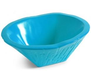Terra håndvask i keramik 54 x 46 cm - Cyan