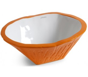 Terra håndvask i keramik 54 x 46 cm - Orange