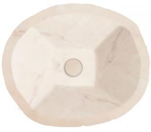 Terra håndvask i keramik 54 x 46 cm - Rosa marmor