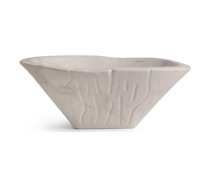 Terra håndvask i keramik 54 x 46 cm - rosa marmor fra horganica fra lepong.dk