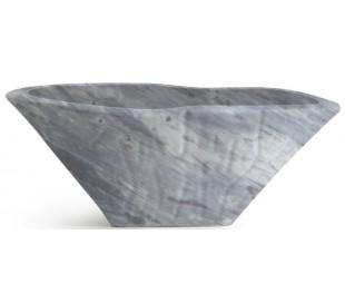 Terra håndvask i keramik 54 x 46 cm - Grå marmor