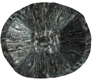 Terra håndvask i keramik 54 x 46 cm - Grøn marmor