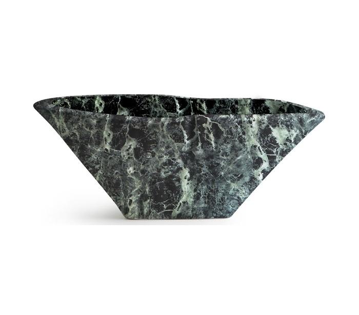 Image of   Terra håndvask i keramik 54 x 46 cm - Grøn marmor