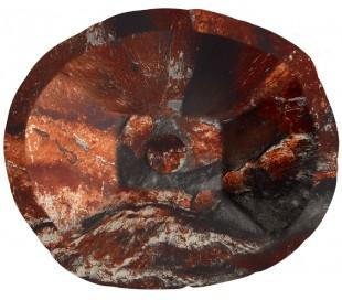 Terra håndvask i keramik 54 x 46 cm - Lava marmor