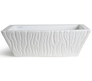 Pietra håndvask i keramik 59,5 x 39,5 cm - Hvid