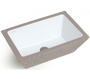 Pietra håndvask i keramik 59,5 x 39,5 cm - Mat ler grå