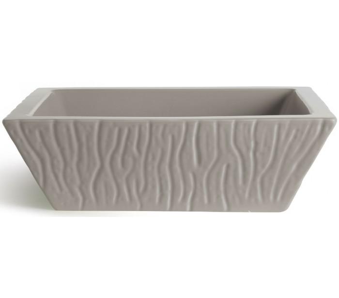 interiors 1900 – Pietra håndvask i keramik 59,5 x 39,5 cm - mat ler grå fra lepong.dk