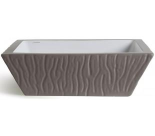 Pietra håndvask i keramik 59,5 x 39,5 cm - Mat basalt