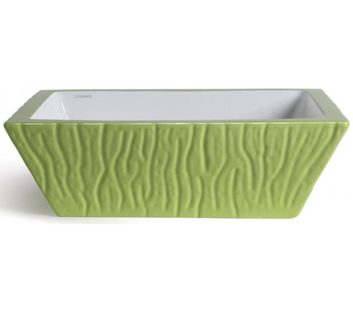 endon lighting Pietra håndvask i keramik 59,5 x 39,5 cm - limegrøn fra lepong.dk
