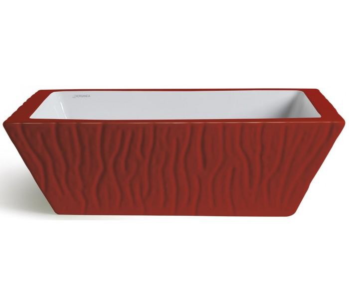 Pietra håndvask i keramik 59,5 x 39,5 cm - passionsrød fra horganica fra lepong.dk