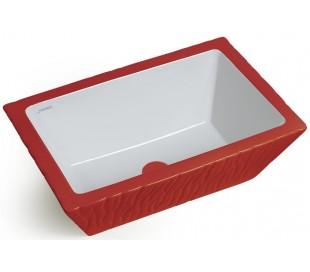 Pietra håndvask i keramik 59,5 x 39,5 cm - Passionsrød