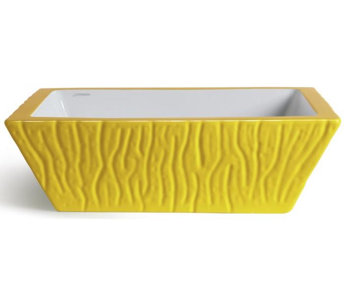 endon lighting Pietra håndvask i keramik 59,5 x 39,5 cm - solgul fra lepong.dk