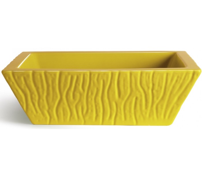 Pietra håndvask i keramik 59,5 x 39,5 cm - solgul fra selected by lepong fra lepong.dk