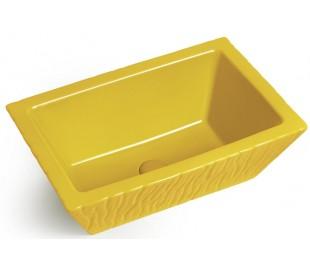 Pietra håndvask i keramik 59,5 x 39,5 cm - Solgul