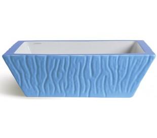 Pietra håndvask i keramik 59,5 x 39,5 cm - Cyan