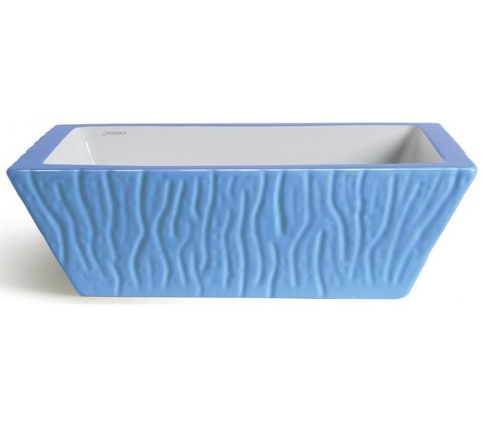 Pietra håndvask i keramik 59,5 x 39,5 cm - cyan fra selected by lepong fra lepong.dk